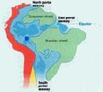 Há 10 milhões de anos existia uma língua de oceano cobrindo toda a bacia Amazônica